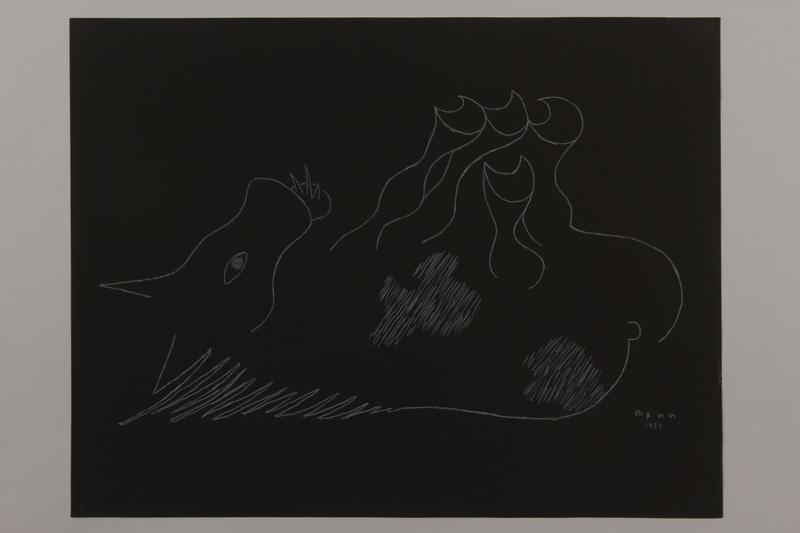 1992.223.8 front Premonitory drawing by Bencjon Benn