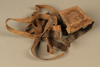 2006.516.5 b side b Pair of Tefillin and pouch owned by a Romanian Jewish concentration camp survivor  Click to enlarge