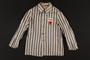Concentration camp uniform jacket worn by a prisoner