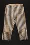 Concentration camp uniform pants worn by a prisoner