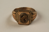 1992.24.1 front Nazi unit men's brass finger ring found by a US soldier  Click to enlarge