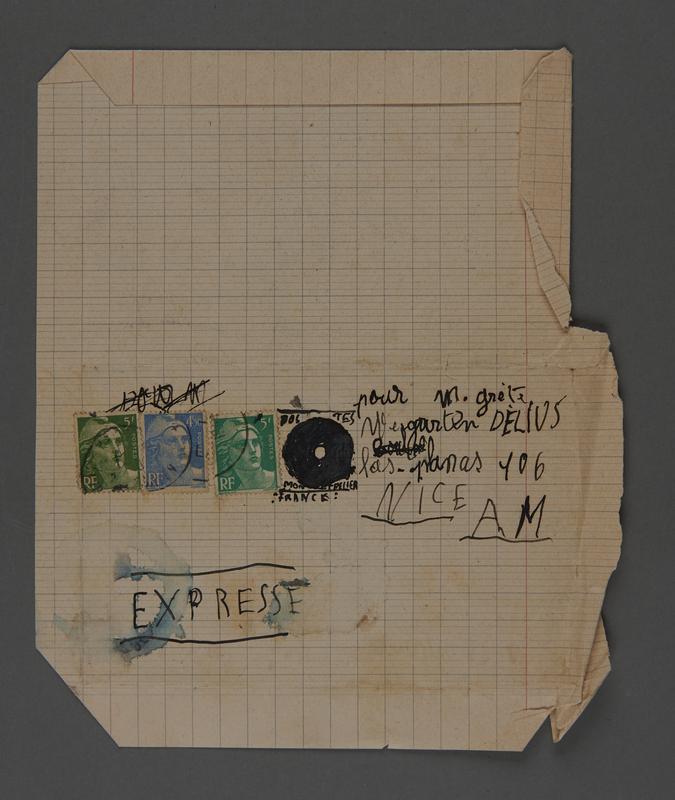 2002.420.28 front Handmade stamped letter