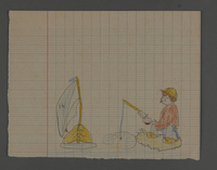 2002.420.40 front Drawing of a boy fishing  Click to enlarge