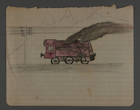 2002.420.42 front Drawing of a train  Click to enlarge