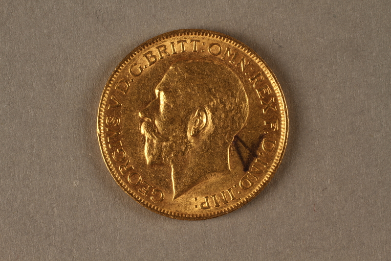 2019.81.2 front 1911 British gold coin