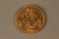 2019.81.2 back 1911 British gold coin  Click to enlarge