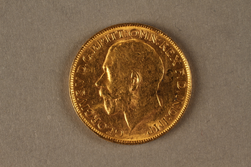 2019.81.3 front 1922 British gold coin