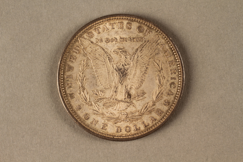 2019.81.6 back 1880 American half dollar coin