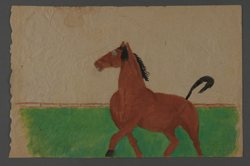 2002.420.50 front Watercolor drawing of a horse