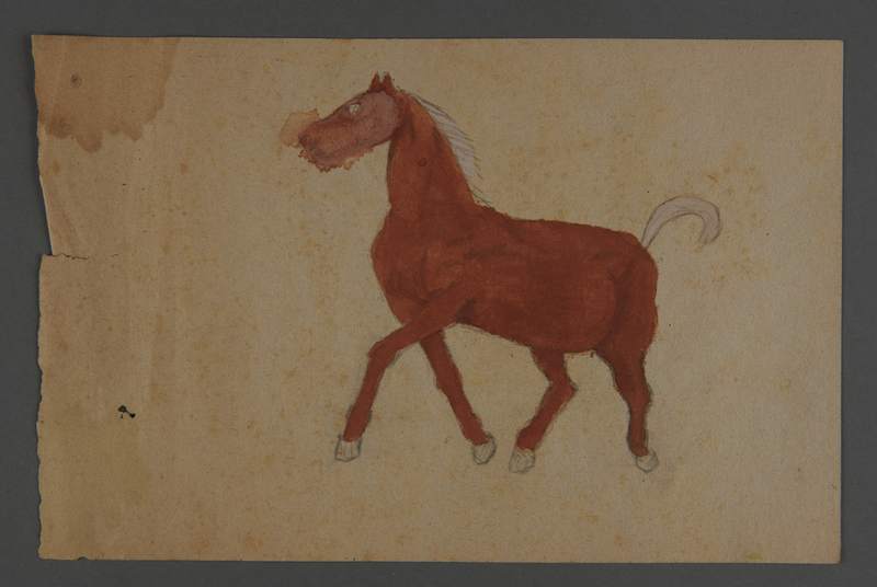 2002.420.54 front Watercolor drawing of a horse