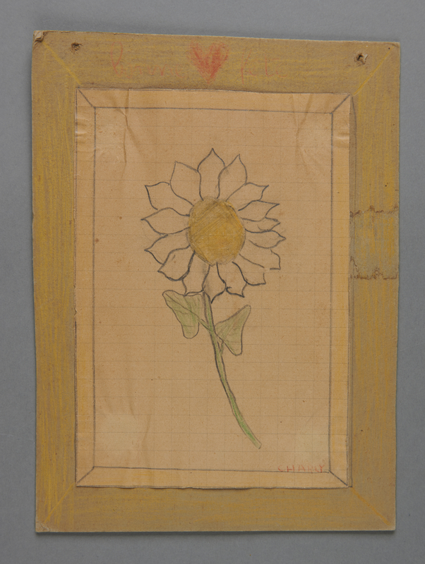 2002.420.85 front Drawing of a flower