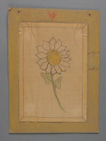 2002.420.85 front Drawing of a flower  Click to enlarge