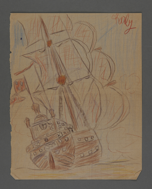 2002.420.102 front Drawing of a ship