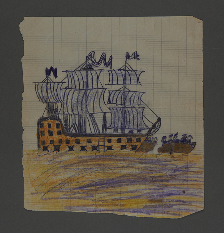 2002.420.103 front Drawing of a ship