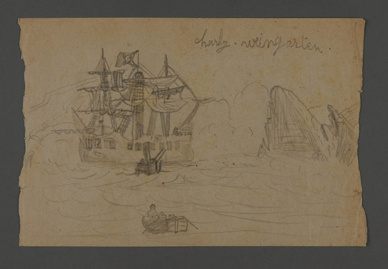 2002.420.104 front Drawing of a ship