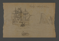 2002.420.104 front Drawing of a ship  Click to enlarge