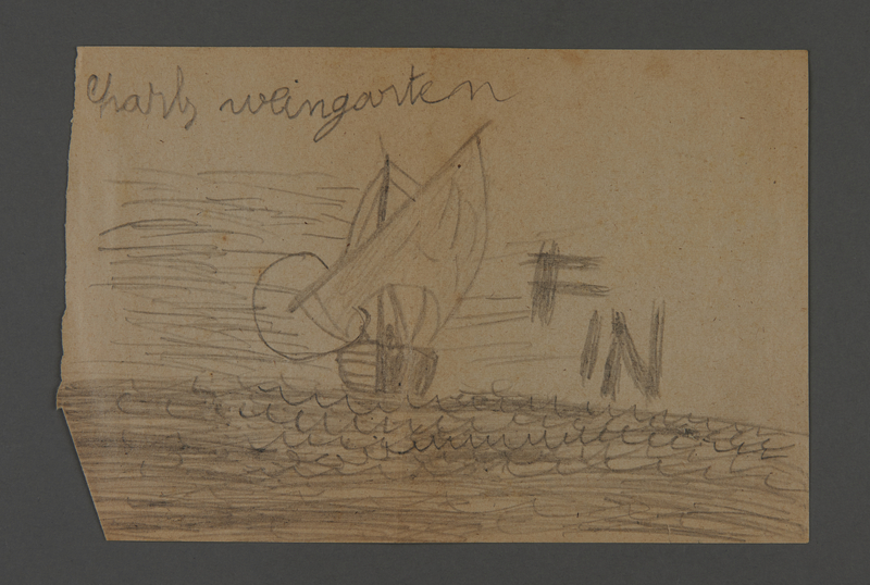 2002.420.106 front Drawing of a ship