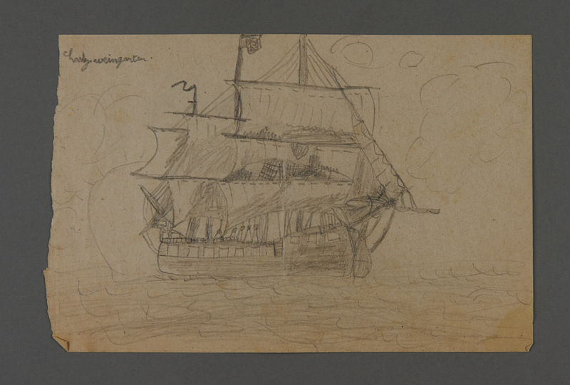 2002.420.107 front Drawing of a ship