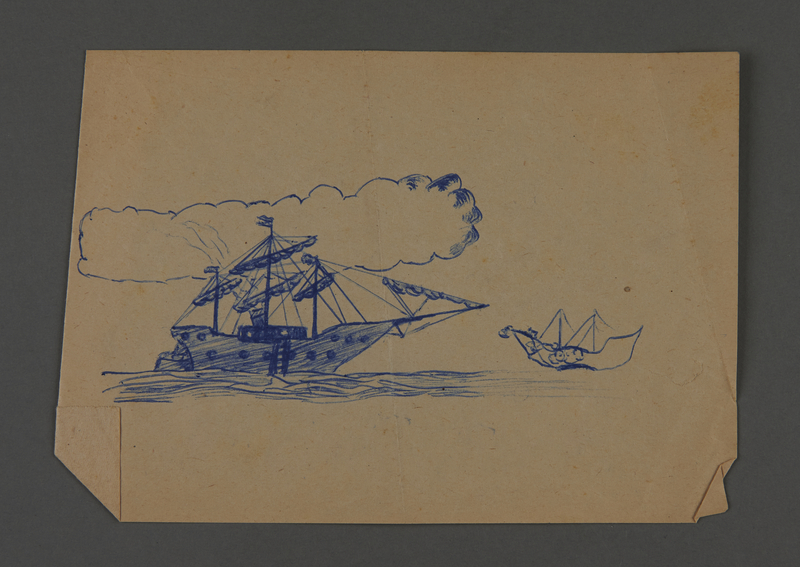 2002.420.108 front Drawing of a ship