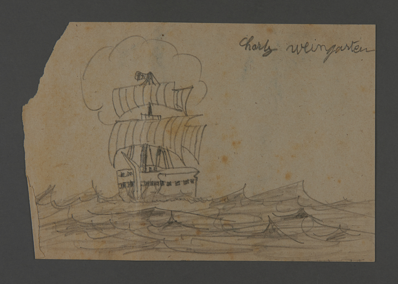 2002.420.109 front Drawing of a ship