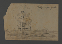 2002.420.109 front Drawing of a ship  Click to enlarge