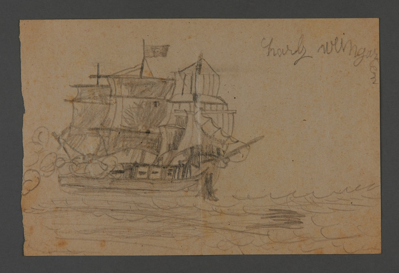 2002.420.110 front Drawing of a ship