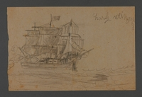 2002.420.110 front Drawing of a ship  Click to enlarge