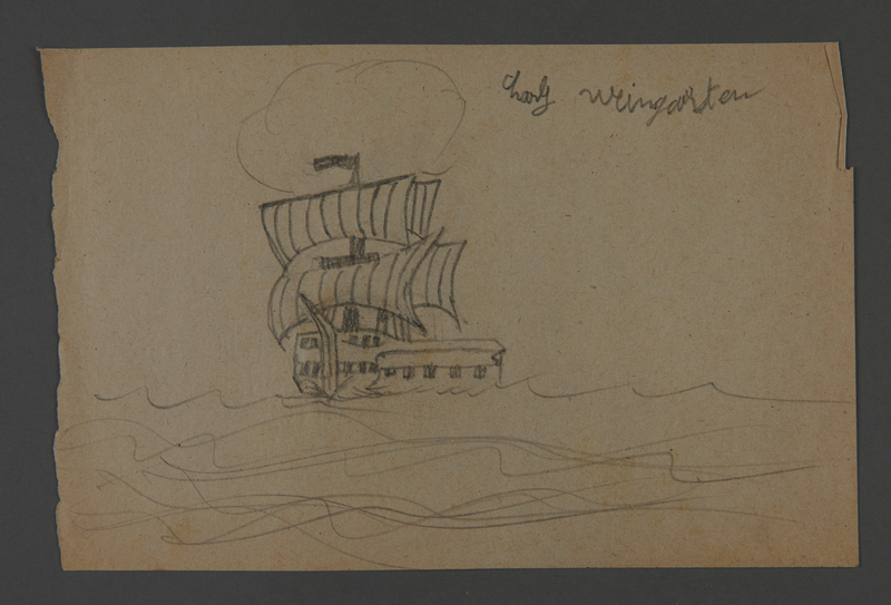 2002.420.111 front Drawing of a ship