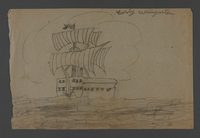 2002.420.112 front Drawing of a ship  Click to enlarge