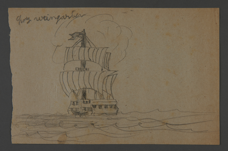 2002.420.113 front Drawing of a ship