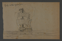 2002.420.113 front Drawing of a ship  Click to enlarge