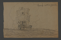 2002.420.115 front Drawing of a ship  Click to enlarge