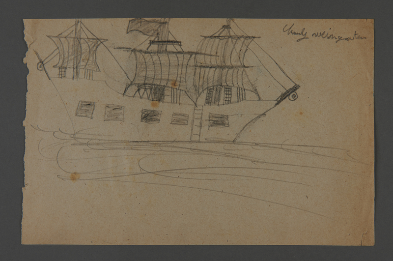 2002.420.116 front Drawing of a ship