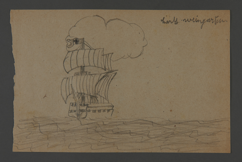 2002.420.117 front Drawing of a ship