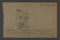 2002.420.117 front Drawing of a ship  Click to enlarge