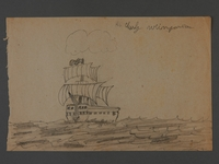 2002.420.118 front Drawing of a ship  Click to enlarge
