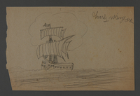 2002.420.119 front Drawing of a ship  Click to enlarge