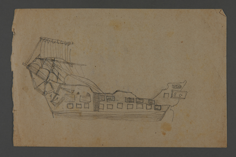 2002.420.120 front Drawing of a ship