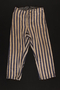 Striped concentration camp uniform trousers worn by Polish Jewish inmate