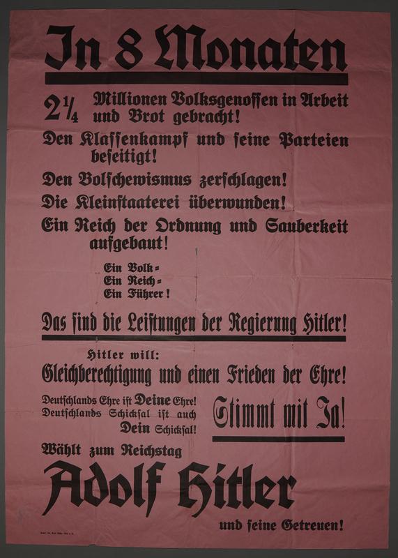 1992.40.1 front Election poster for Adolf Hitler