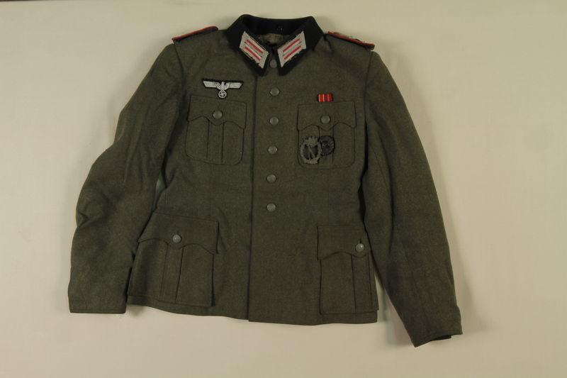 1992.41.1.1 front World War II German Wermacht uniform jacket