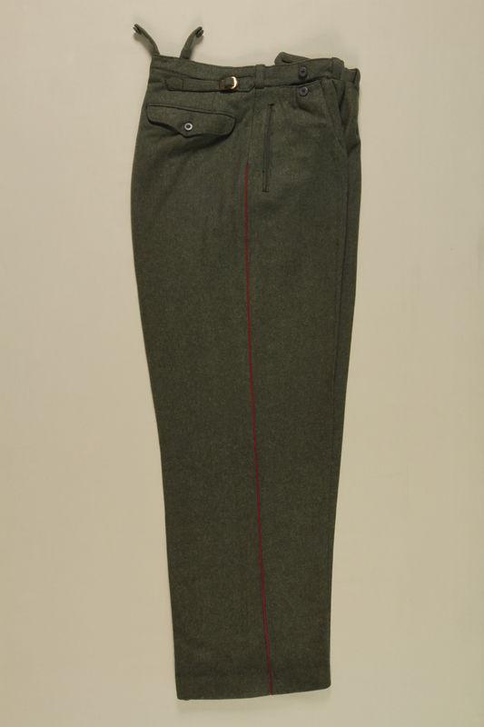 1992.41.1.2 front World War II German Wehrmacht uniform pants