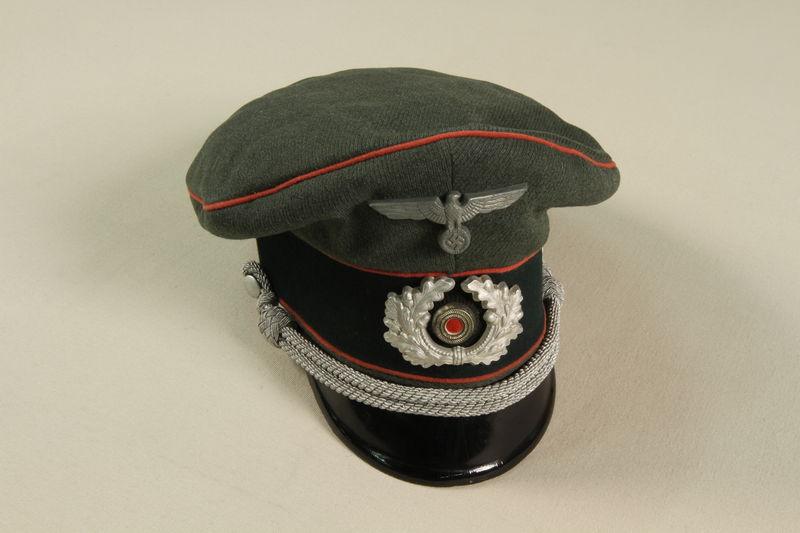 1992.41.1.3 front World War II German Wehrmacht uniform cap