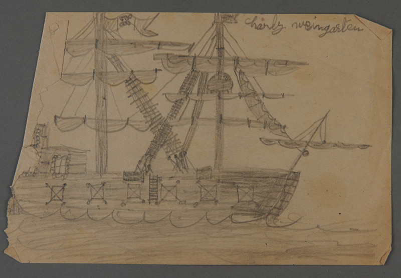 2002.420.121 front Drawing of a ship