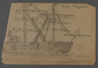 2002.420.121 front Drawing of a ship  Click to enlarge