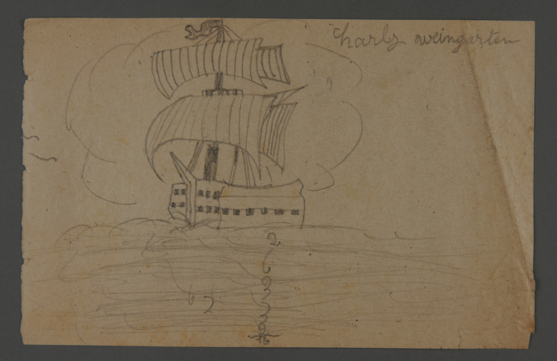 2002.420.122 front Drawing of a ship