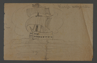 2002.420.122 front Drawing of a ship  Click to enlarge