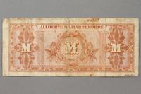2019.181.2 back 1944 German 20 mark note  Click to enlarge