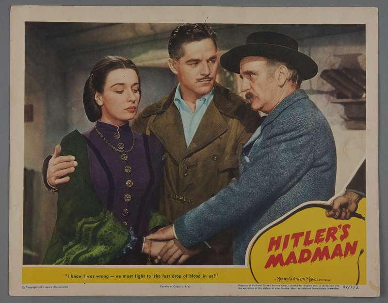 "2018.590.101 front Lobby card for the film ""Hitler's Madman"" (1943)"