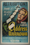 """U.S. one-sheet poster for the movie, """"Address Unknown"""" (1944)"""